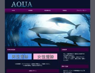 AQUAのPC登録前トップページ