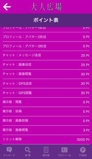 大人広場の料金表2