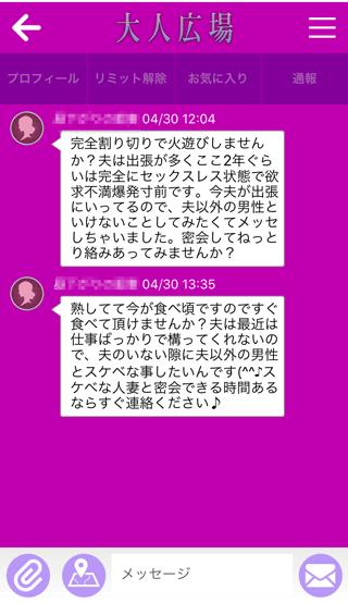 大人広場登録2週間後の受信メッセージ詳細10