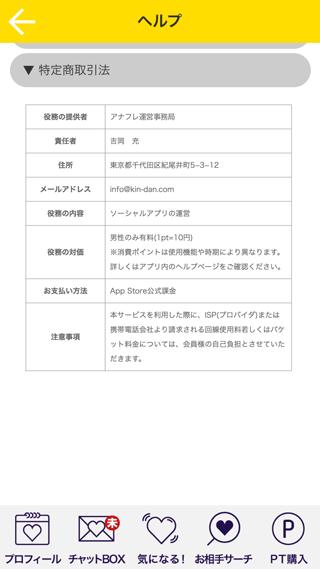 アナフレの運営者(特定商取引法に基づく表示)情報