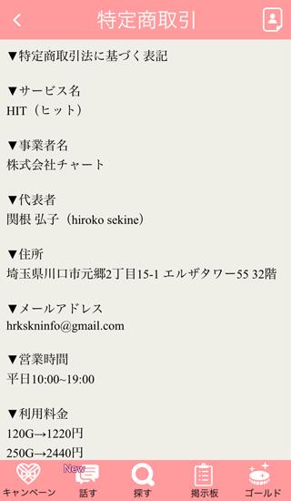 HITアプリの運営者情報